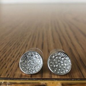 Express Silver Studded Earrings.
